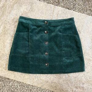 Pre-loved! Topshop Corduroy Green Skirt!